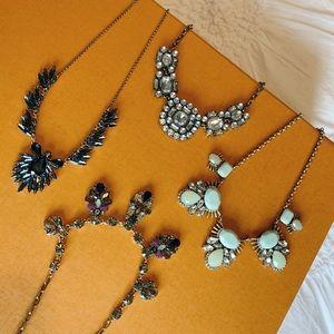Bundle of J Crew necklaces ⚡️